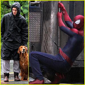 Andrew Garfield Films 'Spider-Man 2' Stunt Scenes!