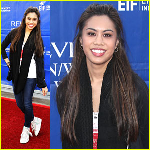 Ashley Argota Sings National Anthem at EIF Revlon Run/Walk For Women 2013