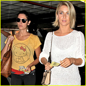 Ashley Greene & Julianne Hough Hit the Nail Salon