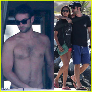 Chace Crawford: Shirtless Cabo Trip with Rachelle Goulding!