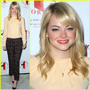 Emma Stone: Gilda's Club Luncheon Hostess