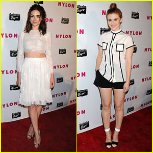 Holland Roden & Crystal Reed: Nylon Young Hollywood Party 2013