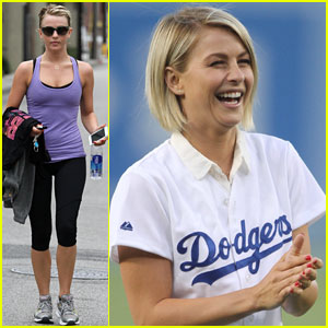 Julianne Hough: First Pitch at Dodgers Game
