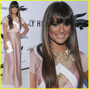 Lea Michele: Beverly Hilton Pool Unveiling