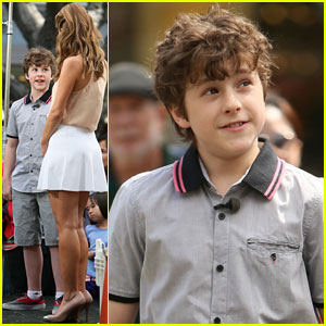 Nolan Gould: 'Extra' Appearance at The Grove