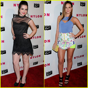 Vanessa Marano & Samantha Droke: Nylon Young Hollywood Party 2013