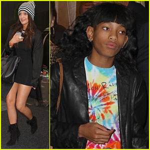 Willow Smith & Kylie Jenner Stop by Starbucks