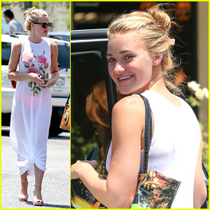 AJ Michalka: Starbucks Run in Sheer Dres