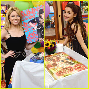 Jennette McCurdy & Ariana Grande: Birthday Cake on 'Sam & Cat' Set!
