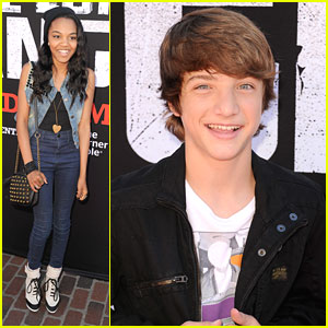 China Anne McClain & Jake Short: 'Lone Ranger' Premiere Pair