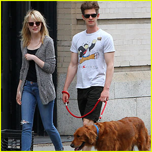 Emma Stone & Andrew Garfield Walk Ren After 'Spider-Man 2' Graduation