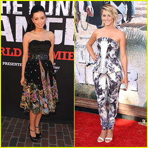 Julianne Hough & Christian Serratos: 'Lone Ranger' Premiere!