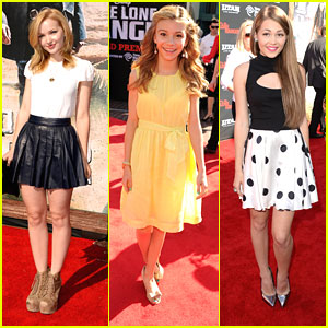 Kelli Berglund: 'Lone Ranger' Premiere with Dove Cameron & G Hannelius