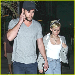 Miley Cyrus & Liam Hemsworth: Monday Movie Date Night