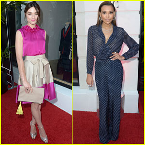 Naya Rivera & Crystal Reed: CH Carolina Herrera Boutique Opening