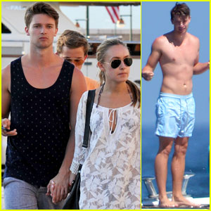 Patrick Schwarzenegger Shirtless Vacation with Taylor Burns