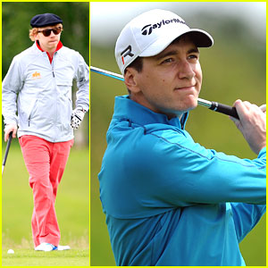 Rupert Grint & James Phelps Golf for 'Shooting Stars'