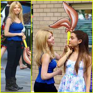 Ariana Grande & Jennette McCurdy: Commercial Shoot in NYC!