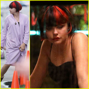 Chloe Moretz: 'The Equalizer' Diner Scene Shoot