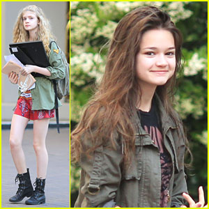 Ciara Bravo: 'Jinxed' Set With Elena Kampouris