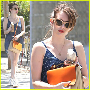 Emma Roberts: Errands After Flight Home From Paris