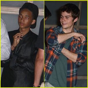 Jaden Smith & Dylan O'Brien: Selena Gomez Party Pals
