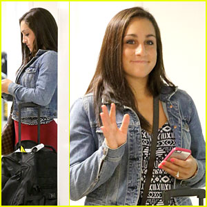 Jordyn Wieber: LAX Arrival After 18th Birthday