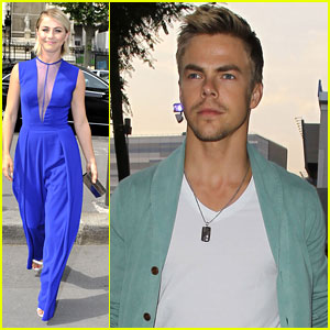 Julianne Hough Attends Paris Fashion Week, Derek Hits Up the Beyonce Concert