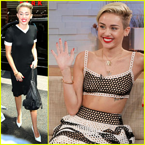 Miley Cyrus Stops By 'Good Morning America'