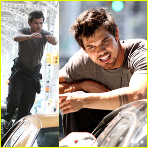 Taylor Lautner: Stunt Scenes for 'Tracers'!