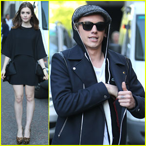 Lily Collins & Jamie Campbell Bower: 'Mortal Instruments' London Promo