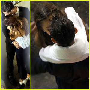 Ariana Grande & Nathan Sykes: Video Shoot Kisses!