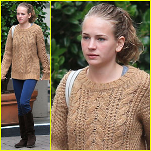 Britt Robertson: Hotel Exit After Dylan O'Brien Visit
