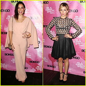 Chloe Bridges & Lindsey Gort: 'Carrie Diaries' Premiere Party!