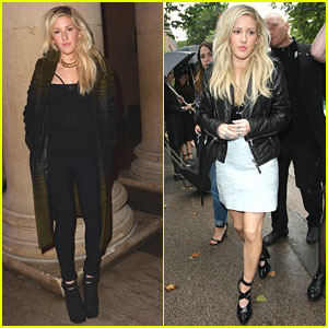 Ellie Goulding: Jonathan Saunders & TopShop Shows at London Fashion Week