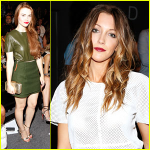 Holland Roden & Katie Cassidy: Rachel Zoe Front Row at NYFW