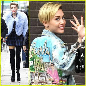 Miley Cyrus: Alan Carr Interview Arrival
