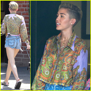 Miley Cyrus Spends Labor Day at the Studio