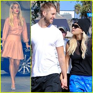 Rita Ora: Hand Holding with Calvin Harris!
