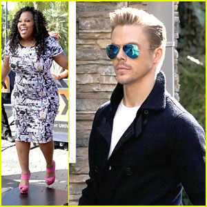 Amber Riley & Derek Hough: Practice Before 'Extra' Appearance