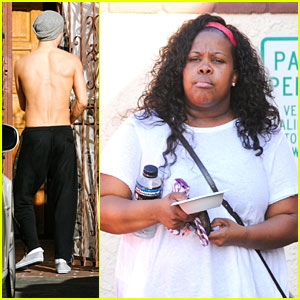 Derek Hough: Amber Riley's Knee Braces Are an Awesome Costume Accessory