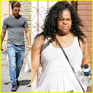 Amber Riley: Derek Hough Wasn't Nervous Dancing For Sister Julianne