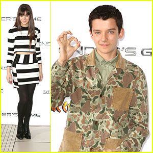 Asa Butterfield & Hailee Steinfeld: 'Ender's Game' Photo Call in London