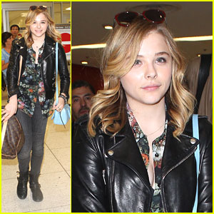 Chloe Moretz: Back in LA After Short NYC Trip