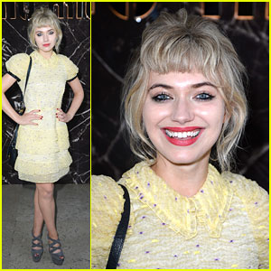 Imogen Poots: Miu Miu Show at Paris Fashion Week