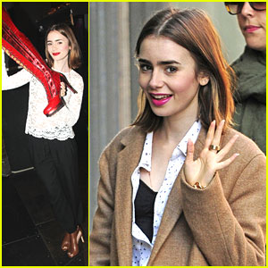 Lily Collins: 'Kinky Boots' on Broadway!