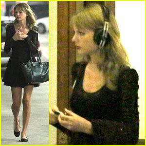 Taylor Swift: 'Giver' Dinner After Filming