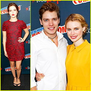 Zoey Deutch: 'Vampire Academy' at NY Comic-Con with Dominic Sherwood!