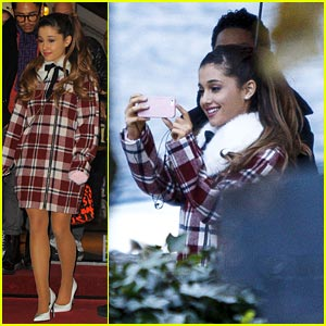 Ariana Grande: Sightseeing Before MTV EMA's 2013