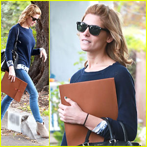 Ashley Greene Stops By Friends House